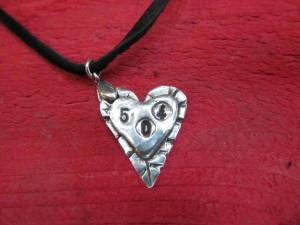 Double 504 Heart $65  (4.3 g fine silver)
